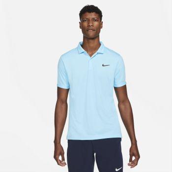 Nike NIKECOURT DRI-FIT VICTORY TENNIS POLO, maja m.kr ten polo, modra
