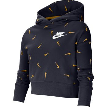 Nike G NSW CROP HOODIE AOP, pulover o., modra