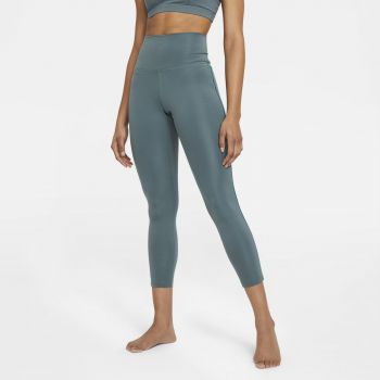 Nike YOGA WO 7/8 NOVELTY LEGGINGS, ženske fitnes 7/8 pajke, modra