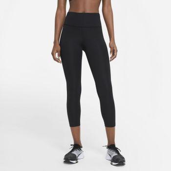 Nike FAST MID-RISE CROP RUNNING LEGGINGS, ženske tekaške 7/8 pajke, črna