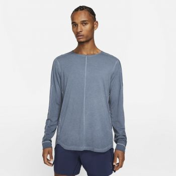 Nike YOGA LONG-SLEEVE TOP, maja, modra