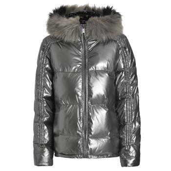 Deha PIUMINO CON CAPPUCCIO, ženska jakna, srebrna