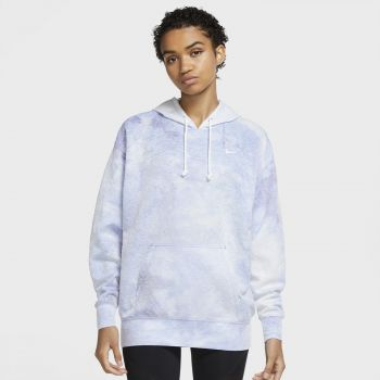 Nike ICON CLASH WO PULLOVER TRAINING HOODIE, pulover ž.fit, bela