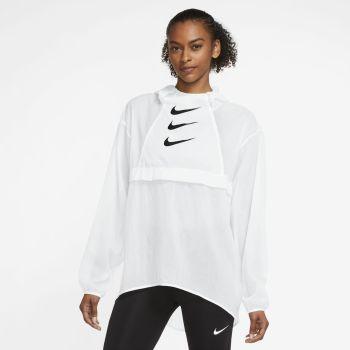 Nike RUN DIVISION WO PACKABLE RUNNING JACKET, ženska tekaška jakna, bela