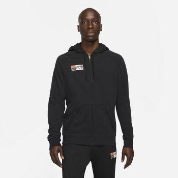 Nike F.C. JOGA BONITO FULL-ZIP SOCCER HOODIE, pulover m.nog, črna