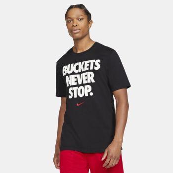 """Nike DRI-FIT """"BUCKETS"""" BASKETBALL T-SHIRT, majica, črna"""