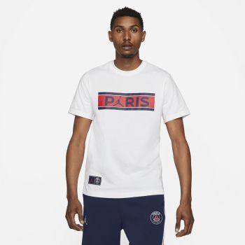 Nike PARIS SAINT-GERMAIN T-SHIRT, maja m.kr nog, bela