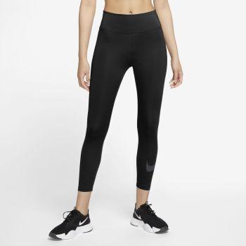 Nike ONE ICON CLASH WO 7/8 GRAPHIC TIGHTS, ženske fitnes 7/8 pajke, črna