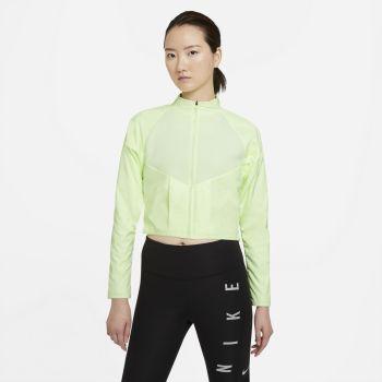 Nike RUN DIVISION WO RUNNING TOP, ženska tekaška jakna, zelena