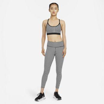 Nike DRI-FIT ONE ICON CLASH 7/8 PRINTED LEGGINGS, ženske fitnes 7/8 pajke, bela