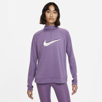 Nike DRI-FIT SOSH RUN 1/2-ZIP RUNNING MIDLAYER, ženska tekaška majica, vijolična