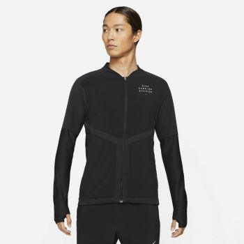 Nike DRI-FIT ELEMENT RUN DIVISION FZ RUNNING TOP, moška jopa, črna