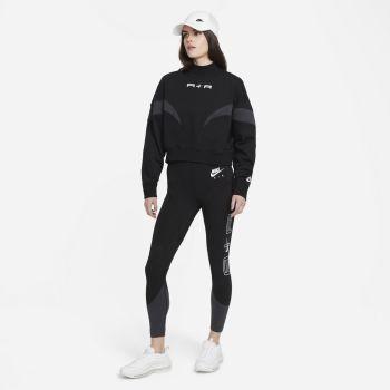 Nike AIR MOCK FLEECE, ženska bluza, črna