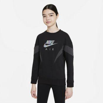 Nike AIR FRENCH TERRY SWEATSHIRT, srajca o., črna
