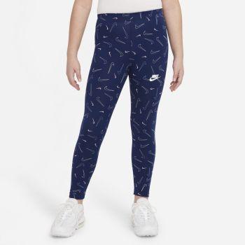 Nike SPORTSWEAR FAVORITES PRINTED LEGGINGS, pajke o.fit, modra