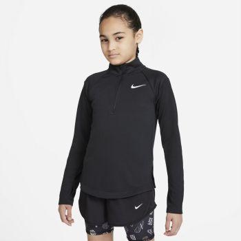 Nike DRI-FIT LONG-SLEEVE RUNNING TOP, maja, črna