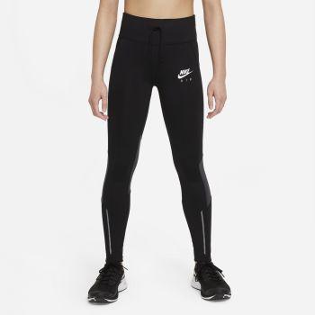 Nike AIR DRI-FIT HIGH-RISE RUNNING LEGGINGS, otroške pajke, črna