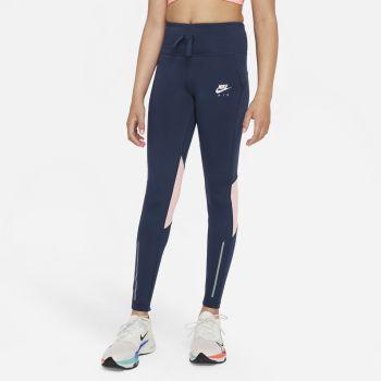 Nike AIR DRI-FIT HIGH-RISE RUNNING LEGGINGS, otroške pajke, modra