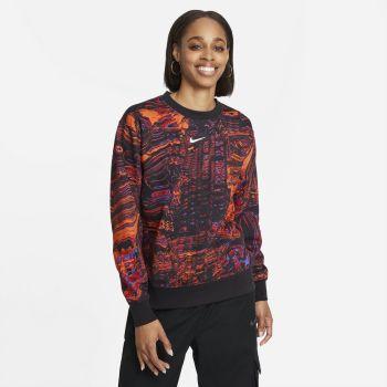 Nike SPORTSWEAR DANCE FLEECE CREW, ženska bluza, črna