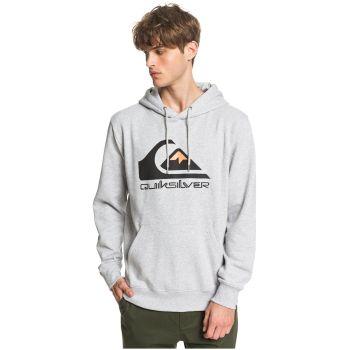 Quiksilver COMP LOGO SCREEN FLEECE, moški pulover, siva