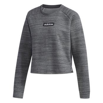 adidas W E SWEAT FT, pulover ž., siva