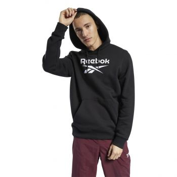 Reebok CL F VECTOR HOODIE, moški pulover, črna