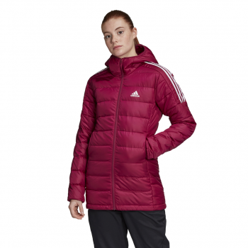 adidas W ESS DOWN PAR, ženska pohodna jakna, rdeča