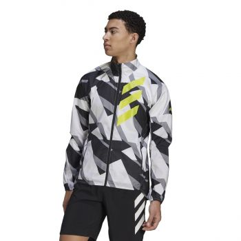 adidas AGR WIND JKT, moška tekaška jakna, bela