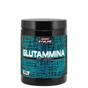 Enervit GYMLINE L-GLUTAMMINA 100% 400G, športna prehrana, črna