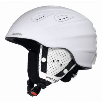Alpina GRAP 2.0, smučarska čelada, bela