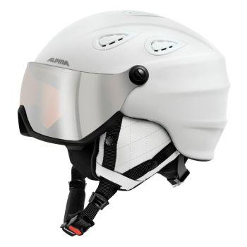 Alpina GRAP VIS HM, smučarska čelada, bela