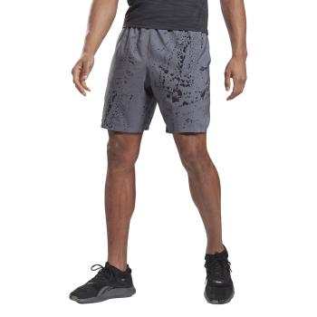Reebok WOR AOP SHORT, moške fitnes hlače, siva