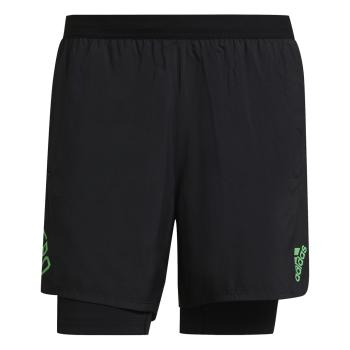 adidas ADIZERO 2IN1, moške kratke tekaške hlače, črna