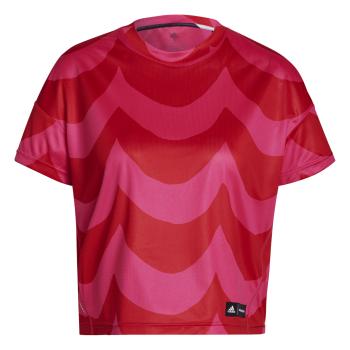 adidas MARIMEKKO TEE W, ženska tekaška majica, rdeča