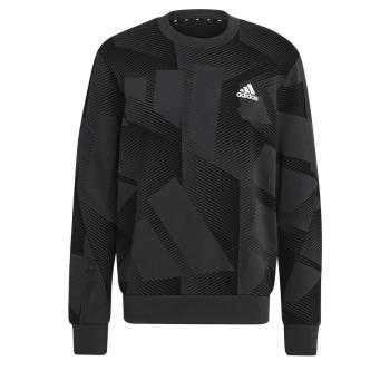 adidas M SI 3B GFX CR, moški pulover, večbarvno