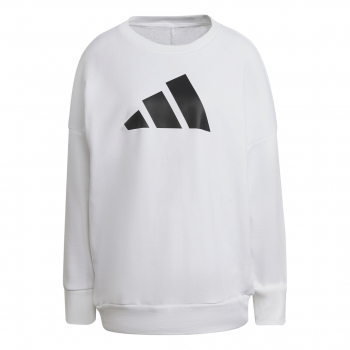 adidas W FI 3B CREW, ženski pulover, bela
