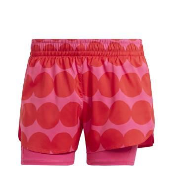 adidas MARIMEKKO 2IN1, ženske tekaške hlače, rdeča
