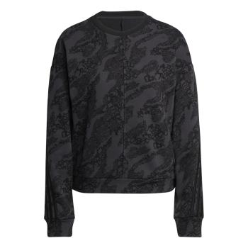 adidas W FI GFX AN CRW, ženski pulover, črna