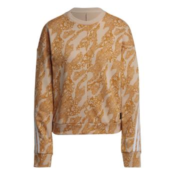 adidas W FI GFX AN CRW, ženski pulover, bež