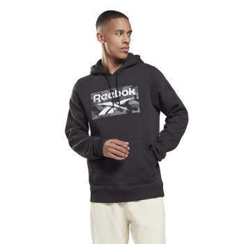 Reebok CAMO HOODIE, moški pulover, črna