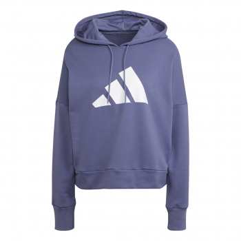 adidas W FI 3B HOODIE, pulover ž., vijolična