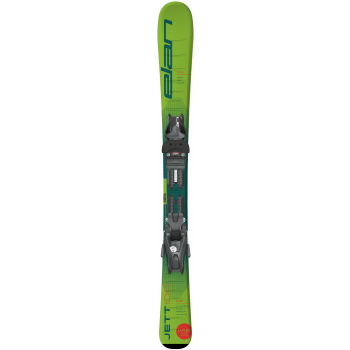 Elan JETT QS + EL 4.5/7.5 GW SHIFT, set otroških smuči, zelena