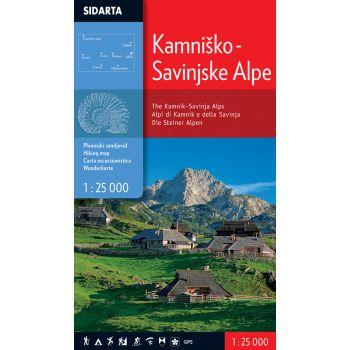 Sidarta KAMNIŠKO-SAVINJSKE ALPE, zemljevid