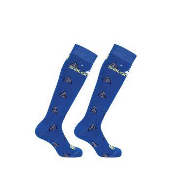 Salomon TEAM JR 2/1, otroške smučarske nogavice, modra