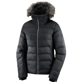 Salomon STORMCOZY JKT W, ženska smučarska jakna, črna