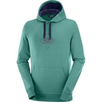 Salomon SHIFT HOODIE M, pulover m.poh, zelena