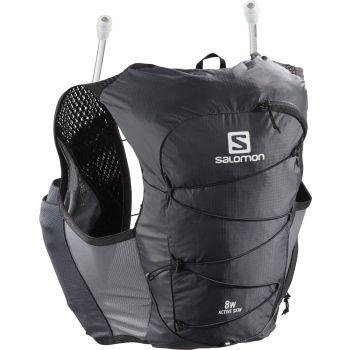 Salomon ACTIVE SKIN 8 W SET, nahrbtnik, črna