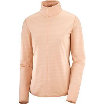Salomon OUTRACK HZ MID W, ženska tekaška majica, oranžna