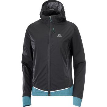 Salomon LIGHT SHELL JKT W, ženska tekaška jakna, črna