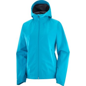 Salomon OUTLINE GTX WP JKT W, ženska pohodna jakna, modra